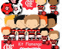 Kit Digital Flamengo Scrapbook Arquivo Png