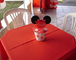 Centro de mesa Minnie e Mickey