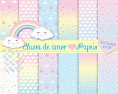 chuva de amor kit digital papeis