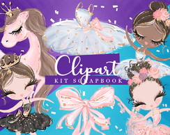 Kit Scrapbook: Cliparts Lago dos Cisnes