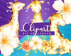Kit Scrapbook: Cliparts Girafinha