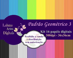 Kit Papel Digital Padrão Geométrico 3