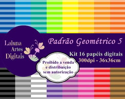 Kit Papel Digital Padrão Geométrico 5