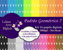 Kit Papel Digital Padrão Geométrico 7