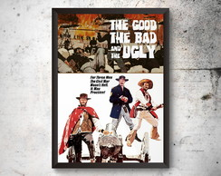Quadro A3 Poster THE GOOD, THE BAD AND THE UGLY