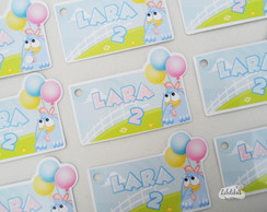 Tag Galinha Pintadinha Candy Colors