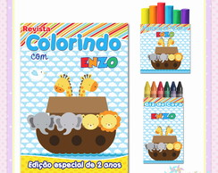 Kit Colorir com Massinha Arca de Noé