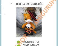 Unicórnio de crochê, ideal para decoração. Feito de fio 100 ... | 194x244