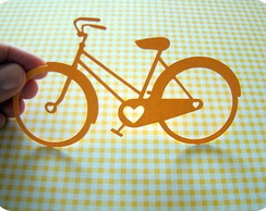 Aplique I Love Bike (A173)