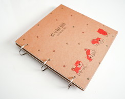 Álbum Scrapbook Kraft para personalizar