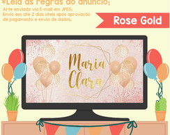 Painel DIGITAL para TV - Rose Gold