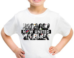 Camisa infantil now united pesonalizada banda teen pop paise