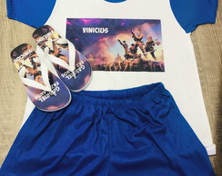 kit festa do pijama fortnite pijama e chinelo