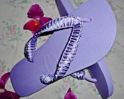 Havaianas Top Light Purple Macramê