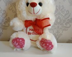 Urso de Pelúcia Happy Birthday