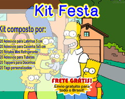 Kit Rótulos Festa Simpsons