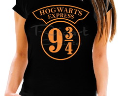 Camiseta Baby Look Harry Potter Expresso 9 3/4 Hogwarts