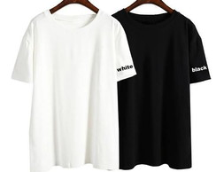 Camisetas Casal Namorados Black and White