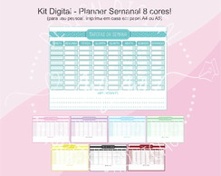 Kit Digital Planners A4 - 8 cores!