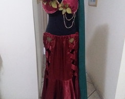 Traje de danca do ventre ou dança flamenca