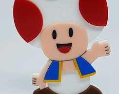 Toad (Super Mario) 8cm com base colorido