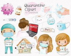 Kit digital CLIPARTS Stay Home