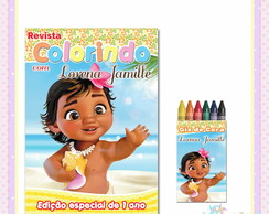 Kit Colorir Moana Baby