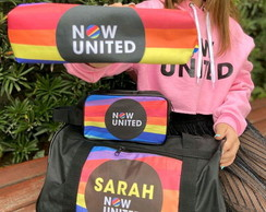 Kit now united personalizado com bolsa + necessaire + estojo