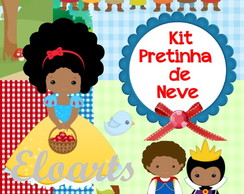 Kit digital Pretinha de neve