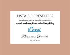 Tag - Lista de Presentes | Casamento (Arte Digital)