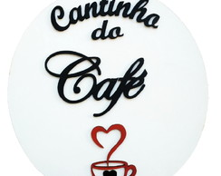 Placa cantinho do café Madeira parede PLACA DECORATICA 29X27