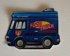 Patch aplique termocolante Food Truck Azul