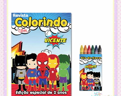 Kit Colorir Super Herói Cute