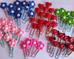 Clips decorados com biscuit