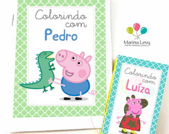 Kit Colorir - Peppa Pig