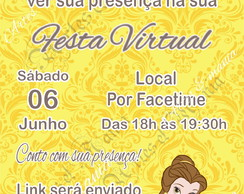 Convite Digital Festa Virtual - Bela