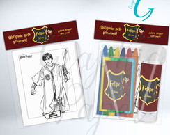 Kit Massinha + Giz + Bolha Harry Potter Personalizado