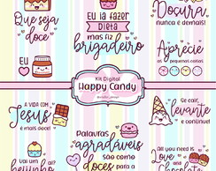 Kit Digital Frases Happy Candy