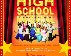 Convite HIGH SCHOOL MUSICAL