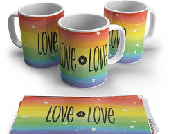 Caneca LGBT Love is Love