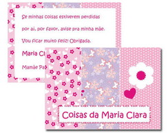 Tag Patchwork Rosa