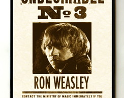 Quadro Harry Potter Undesirable Nr 3 Ron Weasley