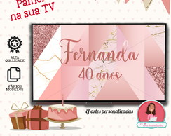 Painel para TV - Painel Digital na sua TV - Rose Gold