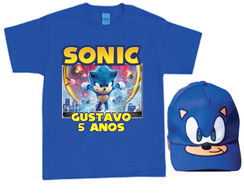 Camiseta e Boné do Sonic O Filme