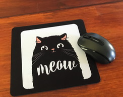 Mouse Pad Meow Black Cat