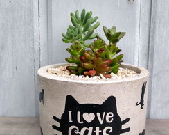 Vaso de Concreto M Love Cats