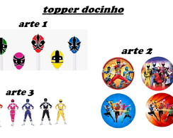 Topper docinho Power Rangers