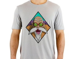 Camiseta Cinza Dragon Ball Mestre Kame