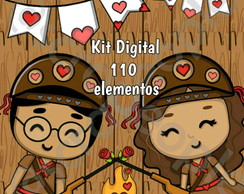KIT CLIPART - SCRAPBOOK - AMOR ARRETADO FESTA JUNINA (#373)