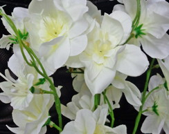 Buquê de orquídeas artificiais off white